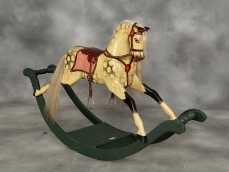 Lines bow rocking horse