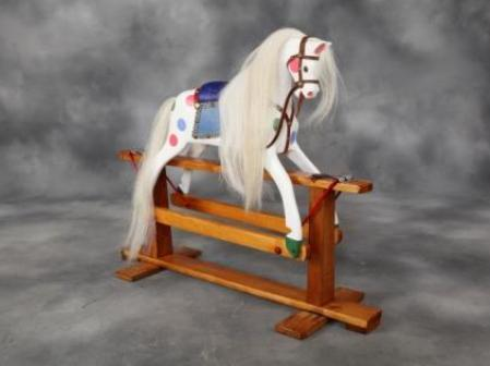 Polychrome box rocking horse