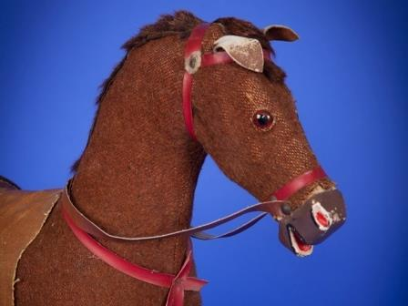 German made plush covered toy horse