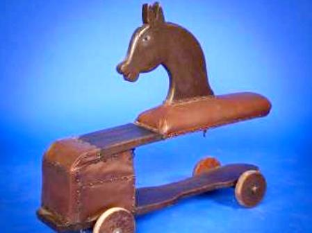 Antique spring rocking horse